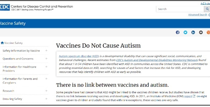 "CDC Quietly Removes Website Headline Claiming ""Vaccines Do Not Cause Autism"""