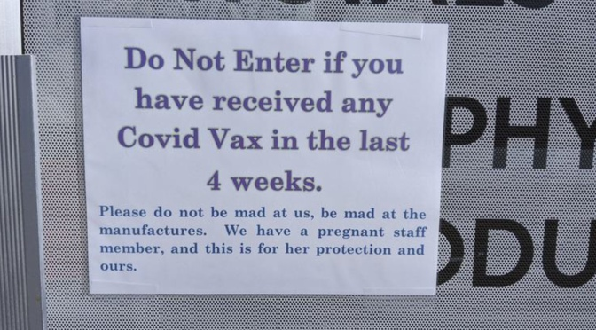 Rocky business bans COVID vaccine recipients from entering premises