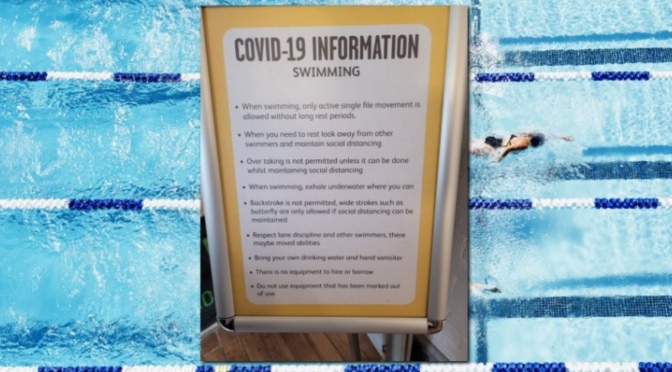 Swimming Pool Tells Swimmers to Exhale Underwater, Not Look at or Talk to Others